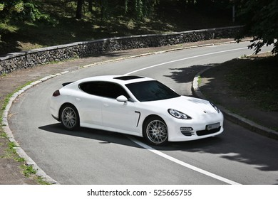 Kyiv, Ukraine, June 26, 2015; Porsche Panamera 4S 4.8 4WD. Editorial photo.
