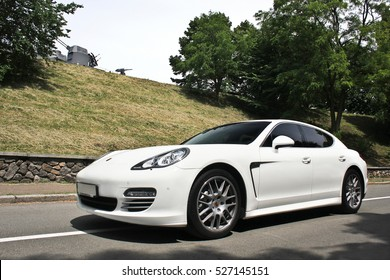Kyiv, Ukraine, June 26, 2015; Porsche Panamera. Luxurious. Tuning. Supercar. Editorial photo.