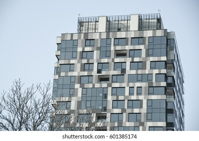 KYIV - UKRAINE March 13, 2017: View of  modern city building