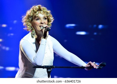 KYIV, UKRAINE - MARCH 29, 2017: Concert of Latvian singer Laima Vaikule