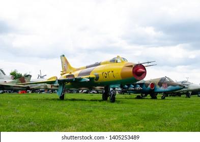 Kyiv, Ukraine - May 11, 2019: Su-20 Fitter-c Fighter-bomber