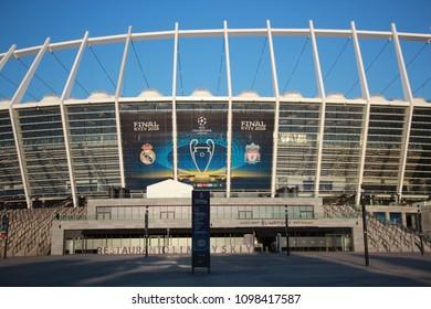 Kyiv, Ukraine May 24 2018 : Olympic Stadium before UEFA Champions League final