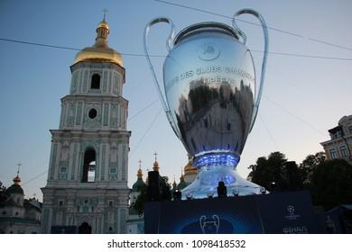 Kyiv, Ukraine May 24 2018 : Sophyivska square, UEFA Champions League activity