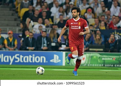 KYIV, UKRAINE - MAY 26, 2018: Mohamed Salah from Liverpool FC during the match  UEFA Champions League Final between Real Madrid and Liverpool at NSC Olympic Stadium