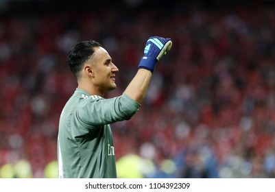 KYIV, UKRAINE - MAY 26: Keylor Navas celebrates the victory during the UEFA Champions League final match between Real Madrid vs Liverpool FC , in Kiev, on 26 May 2018