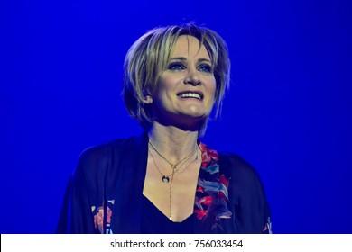 KYIV, UKRAINE - NOVEMBER 15, 2017: Concert of the French singer Patricia Kaas