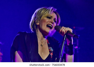 KYIV, UKRAINE - NOVEMBER 15, 2017: Concert of the French singer Patricia Kaas