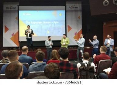 KYIV, UKRAINE - NOVEMBER 16, 2016: The Payoneer Forum Kiev. Khreschatyk conference hall in Kyiv, Ukraine