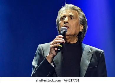 KYIV, UKRAINE - NOVEMBER 27, 2017: Italian singer Toto Cutugno during a concert in Kyiv