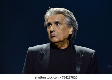KYIV, UKRAINE - NOVEMBER 27, 2017: Italian singer Toto Cutugno during a concert in Kyiv