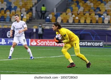 KYIV, UKRAINE - NOVEMBER 3, 2020: Goalkeeper Yann Sommer of Monchengladbach in action during the UEFA Champions League game against Shakhtar Donetsk at NSC Olimpiyskyi stadium in Kyiv, Ukraine