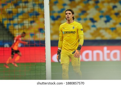 KYIV, UKRAINE - NOVEMBER 3, 2020: Yann Sommer in action during the football match of Group B of UEFA Champions League FC Shakhtar vs Borussia Mönchengladbach