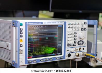 Kyiv, Ukraine - October 09, 2019:  Rohde & Schwarz ESR EMI Test Receiver