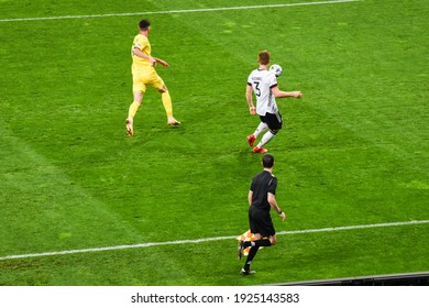 KYIV, UKRAINE - October 10, 2020: Marcel Halstenberg  player during UEFA Nations League A match between national team of Ukraine and national team of Germany on the NSK Olimpiskyi, Ukraine