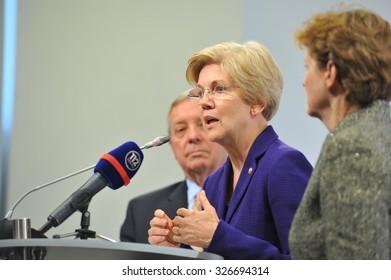 KYIV, UKRAINE - OCTOBER 12, 2015. Three U.S. Senators visited Ukrainian capital city, they recommend: Ukraine must continue the fight against corruption