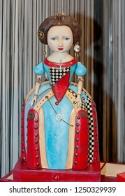 KYIV, UKRAINE - OCTOBER 13 2012: Closeup of OOAK collectible doll at Fashion Doll IV International exhibit on October 13, 2012 in Kiev, Ukraine.