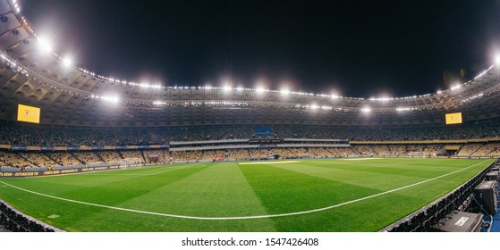 Kyiv, Ukraine - October 14, 2019: A view of the Olympic Stadium before the match of qualify round Euro 2020 Ukraine vs Portugal