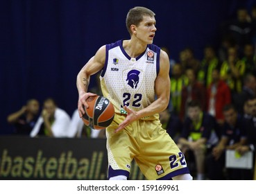 KYIV, UKRAINE - OCTOBER 17: Micah Downs of Budivelnik in action during Turkish Airlines Euroleague game against Fenerbahce Ulker on October 17, 2013 in Kyiv, Ukraine