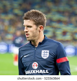 KYIV, UKRAINE - SEPTEMBER 10, 2013: Michael Carrick of England walks on during training session before FIFA World Cup 2014 qualifier game against Ukraine at NSC Olympic stadium in Kyiv