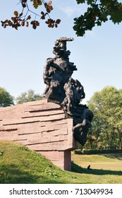 KYIV, UKRAINE - SEPTEMBER 11, 2017: Monument to Soviet citizens and prisoners of war (soldiers and officers of Soviet Army), killed by Nazi occupiers in Babyn Yar in Kyiv, Ukraine in 1941-1943