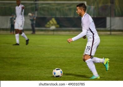 KyiV, UKRAINE - September 2, 2016: Lucas Hernandez in action during the qualifying round UEFA Euro-2017 between Ukraine U21 vs France U21, 2 September 2016, Ukraine