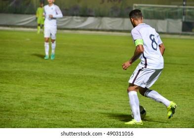 KyiV, UKRAINE - September 2, 2016: Corentin Tolisso in action during the qualifying round UEFA Euro-2017 between Ukraine U21 vs France U21, 2 September 2016, Ukraine