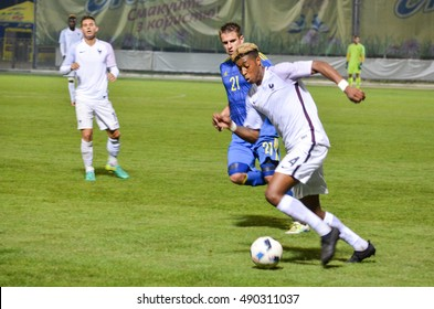 KyiV, UKRAINE - September 2, 2016: Presnel Kimpembe in action during the qualifying round UEFA Euro-2017 between Ukraine U21 vs France U21, 2 September 2016, Ukraine