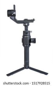 Kyiv, Ukraine - September 28 ,2019: DJI Ronin-SC is Three-Axis Motorized Gimbal Stabilizer for Mirrorless Cameras from DJI company, isolated on white background.
