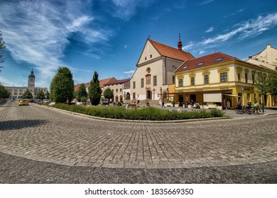 KYJOV, CZECH REPUBLIC - July 13, 2020: Kyjov, town in the South Moravian Region of the Czech Republic