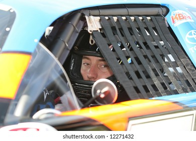 Kyle Busch in car at Madison International Speedway opener May 4, 2008