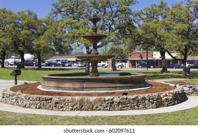 Kyle Texas main square fountain