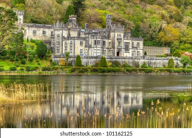 Kylemore Abbey in Connemara mountains, Co. Galway - Ireland