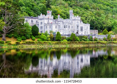 Kylemore Abbey in Connemara Mountains, County Galway, Ireland