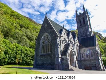 Kylemore Abbey's Neo-Gothic Church, Connemara, Ireland