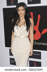 Kylie Jenner at the 2nd Annual Diamond Ball held at the Barker Hanger in Santa Monica, USA on December 10, 2015.