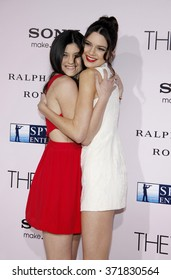 """Kylie Jenner and Kendall Jenner at the Los Angles Premiere of """"The Vow"""" held at the Grauman's Chinese Theater, California, United States on February 6, 2012."""