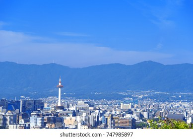 Kyoto cityscape with Kyoto Tower.