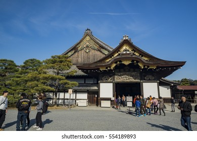 Kyoto, DEC 20: The famous Nijo Castle and visitor on DEC 20, 2016 at Kyoto, Japan
