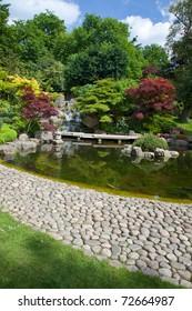 Kyoto Garden in Holland Park, London, UK