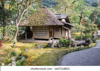 Kyoto, Japan- 27 Nov, 2019: Ihoan tea house in the Kodaiji temple in Kyoto. Kodaiji is located up on the hill above the Gion district.