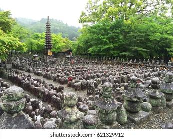 Kyoto, Japan at Adashino Nenbutsu-ji Temple in Spring.