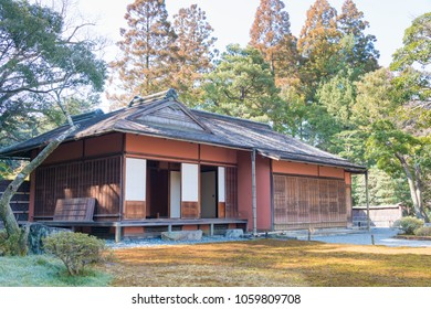 Kyoto, Japan - Feb 23 2018: Sento Imperial Palace (Sento Gosho) in Kyoto, Japan. It is a large garden, formerly the grounds of a palace for retired emperors.