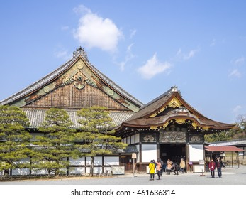 Kyoto, Japan - February 24, 2014 - The Nijo-jo Castle was the residence of the shoguns in Kyoto, Japan