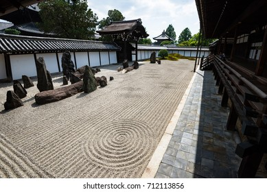 KYOTO, JAPAN - JULY 19, 2016: The southern garden of Tofukuji buddhist temple in Kyoto, Japan.
