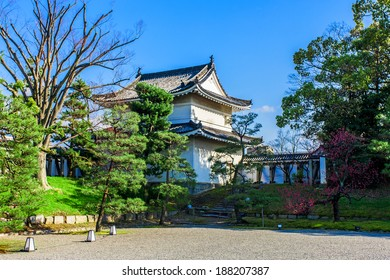 KYOTO, JAPAN - March 27, 2014: The Nijo-jo Castle on March 27, 2014 in Kyoto, Japan. The Nijo-jo Castle was the residence of the Tokugawa shoguns in Kyoto, who had been ruling Japan for over 260 years