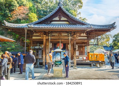 KYOTO, JAPAN - NOVEMBER 20:  Fudo Hall in Kyoto, Japan on November 20, 2013. Small temple at Kinkakuji, houses a statue of Fudo Myoo, one of the five Wisdom Kings - protector of Buddhism