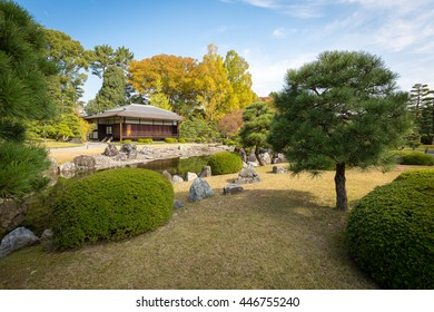 KYOTO, JAPAN - NOVEMBER 8: Nijo Castle in Kyoto, Japan on November 8, 2012. Flatland castle, one of the seventeen assets of Historic Monuments of Ancient Kyoto , designated as a World Heritage Site