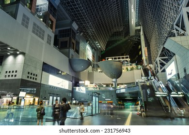 KYOTO, JAPAN - OCTOBER 20: Kyoto Station in Kyoto, Japan on October 20, 2014. Major railway station and transportation hub in Kyoto Japan's 2nd-largest station after Nagoya Station