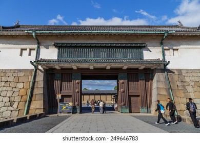 KYOTO, JAPAN - OCTOBER 23: Nijo Castle in Kyoto, Japan on October 23, 2014. A flatland castle, one of the seventeen assets of Historic Monuments of Ancient Kyoto and declared a World Heritage Site