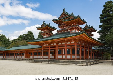 Kyoto, Japan - October 6, 2016: Castle in the corner of Heian Shrine, Kyoto, Japan